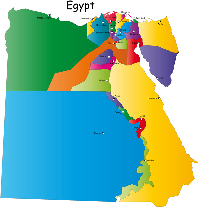 Egypt Governorates map