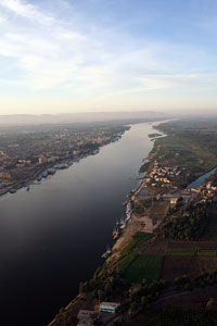 Nile River valley, central Egypt