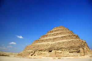 step pyramid of djozer - saqqara, egypt